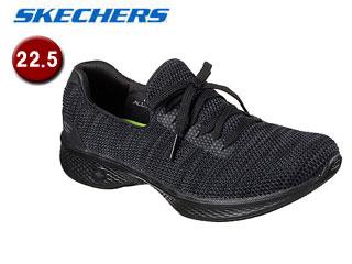 SKECHERS/スケッチャーズ 14919-BKGY GOWALK 4 - ENJOYER ウィメンズ 【22.5】(BLACK/GRAY)