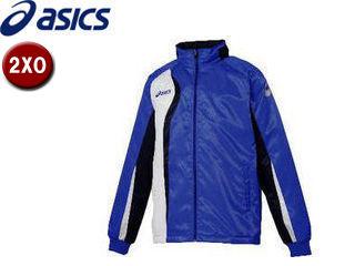 asics/アシックス XAW150-4552 ジャムジーAS2ブレーカージャケット【2XO】 (ブルー×ダークネイビー)