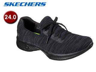 SKECHERS/スケッチャーズ 14919-BKGY GOWALK 4 - ENJOYER ウィメンズ 【24.0】(BLACK/GRAY)