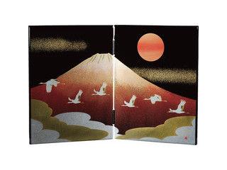 NAKANISHI/中西工芸 日本の歳時 木製屏風 6枚セット/0001088