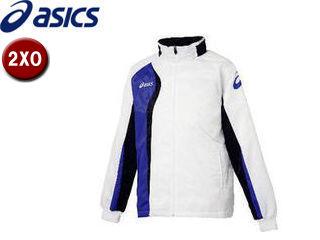 asics/アシックス XAW150-0152 ジャムジーAS2ブレーカージャケット【2XO】 (ホワイト×ダークネイビー)