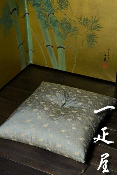 緞子(一重蔓・唐花紋)座布団 65×69cm ※夫婦判
