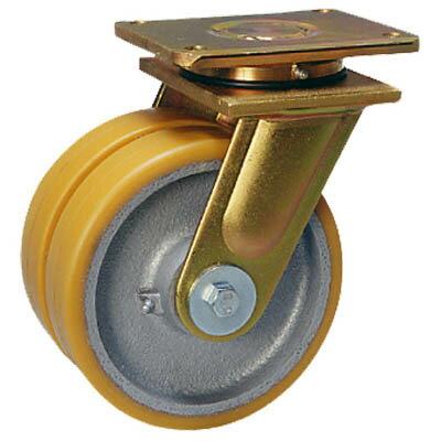 超重荷重用双輪キャスター 自在 150径 LSD-GTH-150K-35 シシク