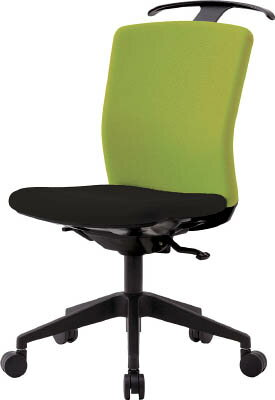 ハンガー付回転椅子(シンクロロッキング) グリーン/ブラック HG-X-CKR-S46M0-F-LGY IRIS(アイリスチトセ)