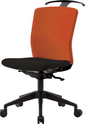 ハンガー付回転椅子(シンクロロッキング) オレンジ/ブラック HG-X-CKR-S46M0-F-OG IRIS(アイリスチトセ)