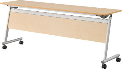 フライングテーブル天板跳上 下棚・幕付1800×450ナチュラル CFTR-S1845M-NA IRIS(アイリスチトセ)