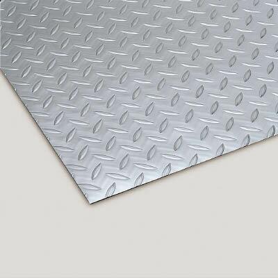【直送】【代引不可】リサイクル長マット縞鋼板シルバー MR-157-120-5 テラモト