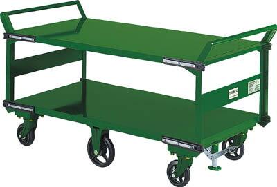 【直送】【代引不可】大型鋼鉄製6輪運搬車 2段型 1400×750 SOHN-1L2WS TRUSCO(トラスコ)