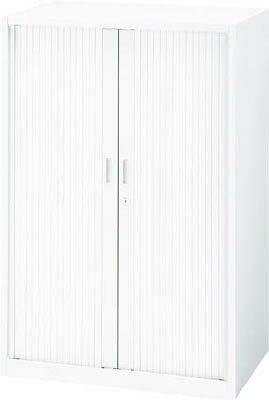 シャッター扉キャビネット WSA4-2列浅24段 1-262-3124 UCHIDA(内田洋行)