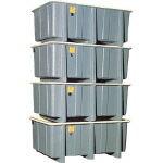 【直送】【代引不可】FRP角タンク 4段積用 910L 1000-Y 立花容器