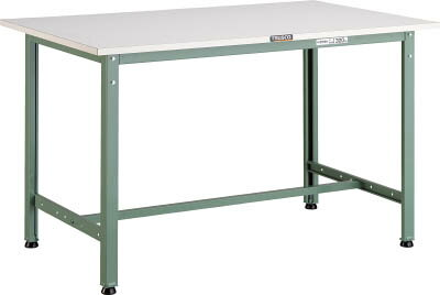 【直送】【代引不可】AE型作業台 ポリ化粧天板 900×450×740 グリーン AE-0945 TRUSCO(トラスコ)