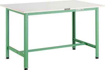 【直送】【代引不可】AE型作業台 ポリ化粧天板 1200×600×740 若緑色 AE-1260 YG TRUSCO(トラスコ)