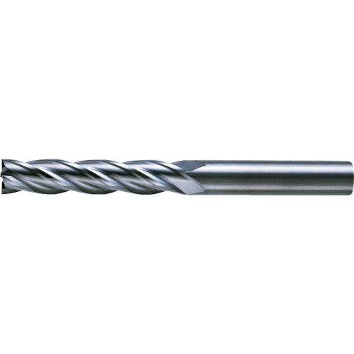 4枚刃超硬センタカットエンドミル(ロング刃長) ノンコート 8.0mm C4LCD0800 三菱マテリアル