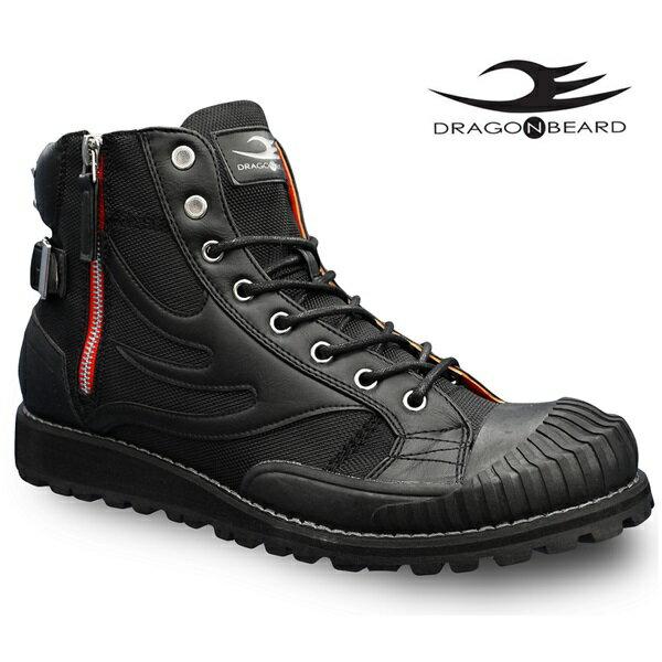 ドラゴンベアード ブーツ DRAGONBEARD DX-8808 BLK 靴