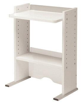 Garage CC 机上棚セット CC-K4532白 W491×D309×H615mm (ガラージ/ガレージ/オフィス家具/SOHO/ソーホー/事務所/シンプル/通販収納/棚/本棚/物入れ/ラック)