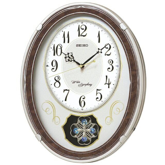 【セイコー】正時メロディ電波掛時計 AM259B