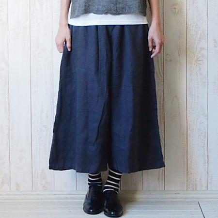 【送料無料】tumugu(ツムグ)ソリトリネンキュロットパンツ
