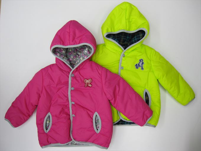 【HAKKA BABY】[ハッカベビー] サーモライト中綿入り フェルトワッペン ブルゾン (90cm)[ブルゾン](00140163)[ハッカキッズの子供服]
