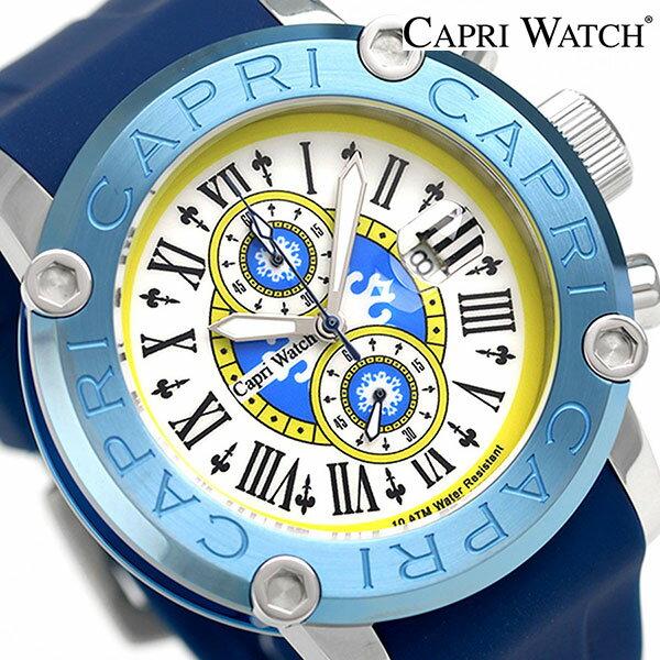 カプリウォッチ フリーマン 49mm クロノグラフ メンズ 腕時計 Art 5314 CAPRI WATCH ブルー