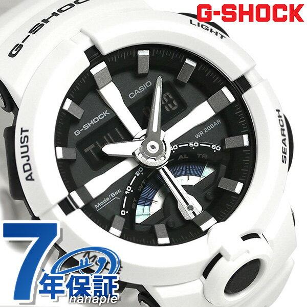 G-SHOCK ベーシック レトログラード 腕時計 GA-500-7ADR カシオ Gショック ブラック×ホワイト