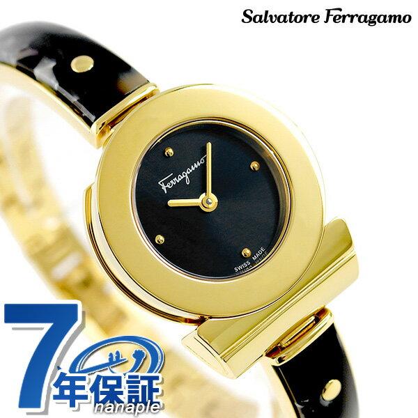 フェラガモ ガンチーニ ブレスレット 22.5mm レディース FII090016 腕時計 Ferragamo ブラック