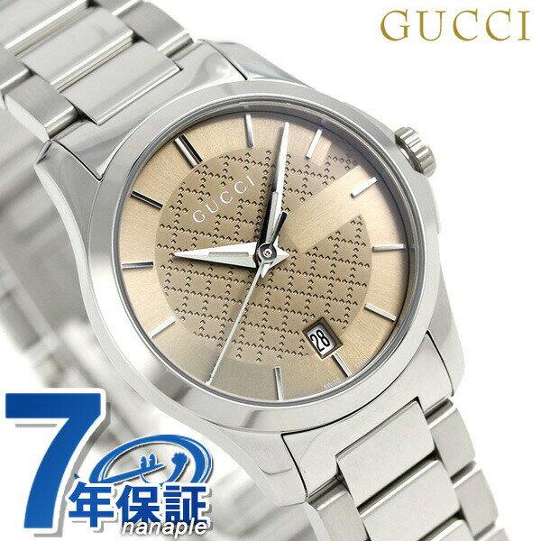 グッチ Gタイムレス クオーツ レディース 腕時計 YA126526 GUCCI ブラウン