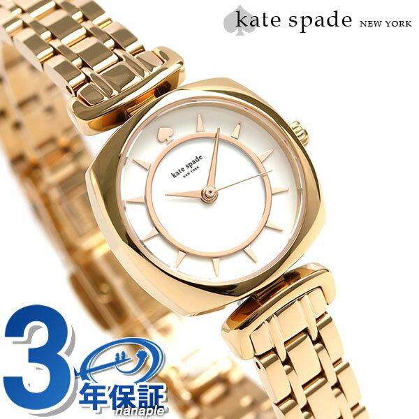 ケイトスペード バロウ ミニ 24mm レディース 腕時計 KSW1322 KATE SPADE ホワイト