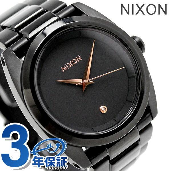 ニクソン クイーンピン クオーツ レディース 腕時計 A935001 nixon オールブラック