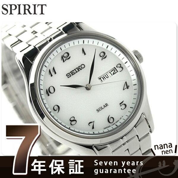 セイコー スピリット ソーラー メンズ SBPX067 SEIKO SPIRIT 腕時計 ホワイト