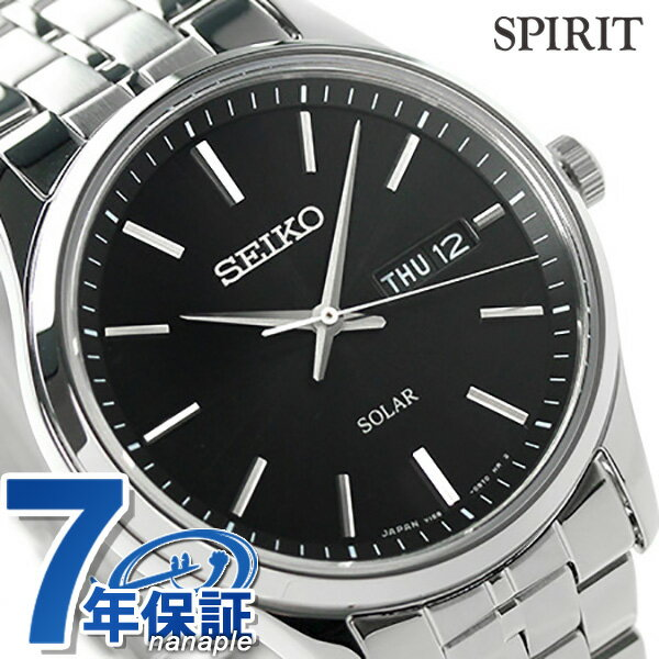 セイコー スピリット ソーラー メンズ SBPX069 SEIKO SPIRIT 腕時計 ブラック