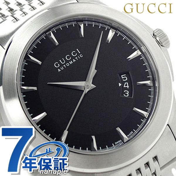 グッチ 自動巻き Gタイムレス メンズ 腕時計 YA126210 GUCCI ブラック