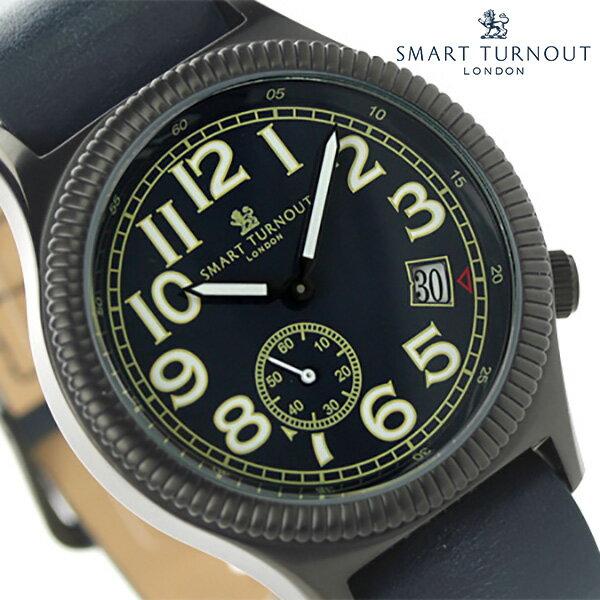 スマートターンアウト ノーソルト スモールセコンド STJ-007BKNV RO20 SMART TURNOUT メンズ 腕時計 クオーツ ネイビー レザーベルト