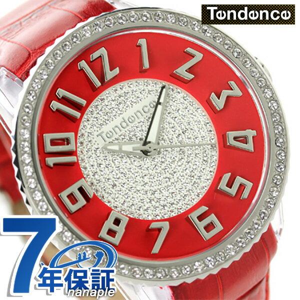 テンデンス グラム 47 クリスタル クオーツ 腕時計 TY430144 TENDENCE レッド