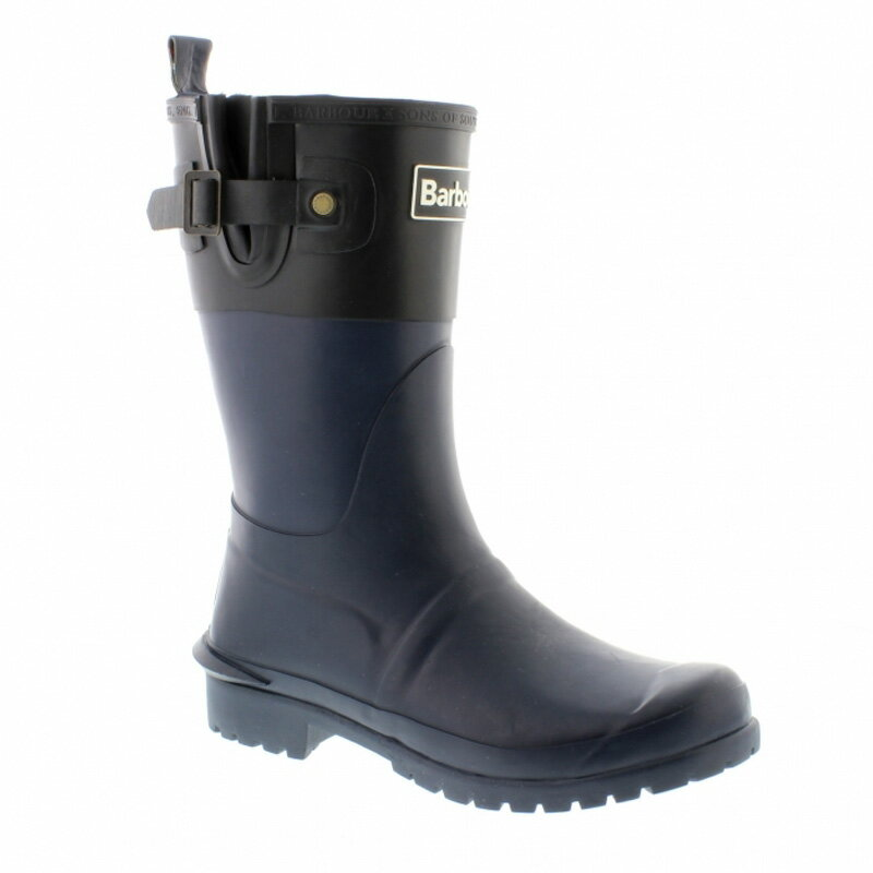 送料別 Barbour(バーブァー) Short Colour Block Welly 8 Navy×Black 08210144052008