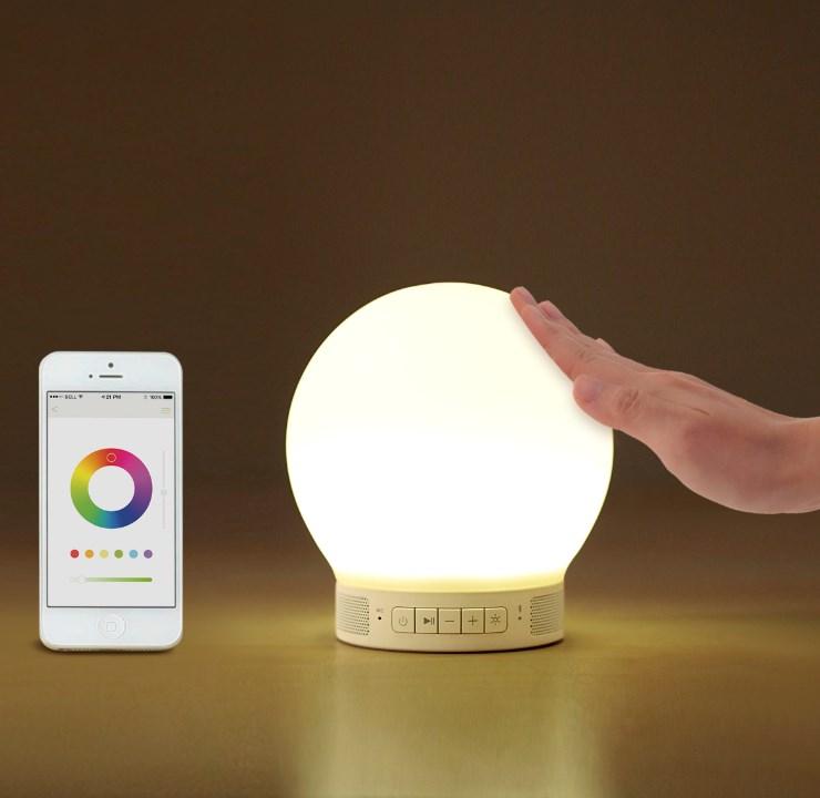 Bluetoothスピーカー/LEDライト Smart Lamp Speaker-mini スマートランプスピーカー ミニ H0017 emoi エレス