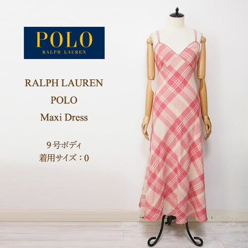 ラルフローレン ポロ レディース チェック マキシ ワンピース・チュニック/レッドクリームPOLO by Ralph Lauren Dress