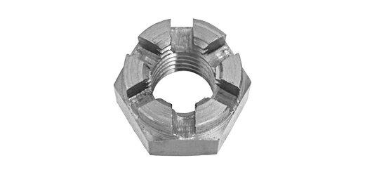 鉄/生地 溝付ナット [2種・高形] (ウィット)W3/4 【 お得セット : 10個入り 】