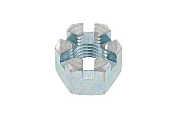 鉄/ユニクロ 溝付ナット [1種・高形]M24 【 お得セット : 10個入り 】