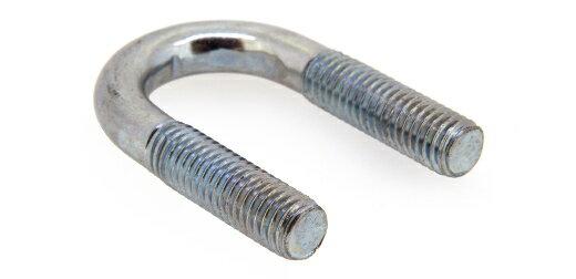 鉄/ドブ Uボルト [鋼管用]M6 × 15A (1/2) 【 小箱 : 1箱/1400本入り 】