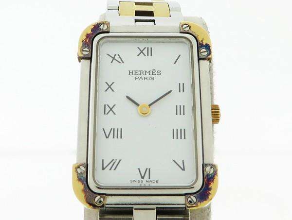 ◇【中古】 【HERMES エルメス】 クロアジュール クォーツ腕時計 CR1.240