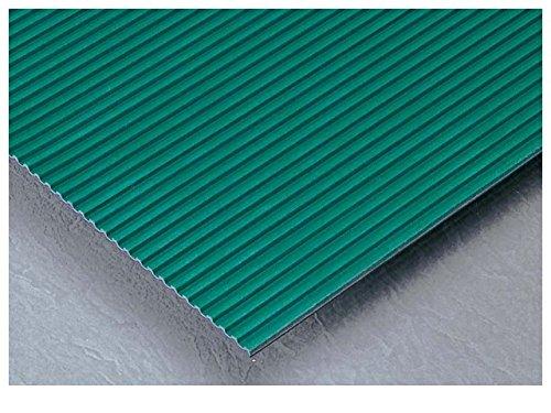 テラモト 筋入ゴムマット 灰 厚さ5mm 1m巾×20m (MR-142-210)