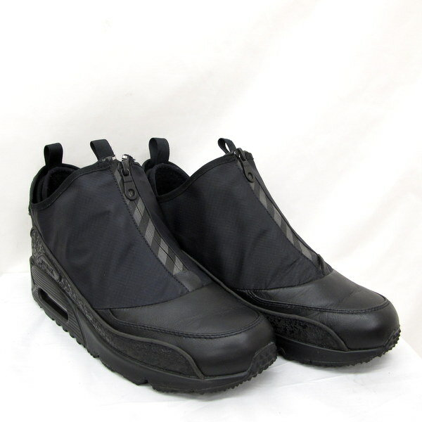 NIKE AIR MAX 90 UTILITY ナイキ エアマックス 90 ユーティリティ 858956-001 スニーカー シューズ ジップアップ くつ 靴 ブラック 27.5cm メンズ 東大阪店 【USED】