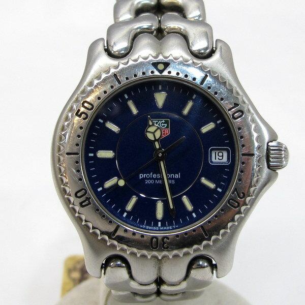 TAG HEUER タグホイヤー 腕時計 プロフェッショナル セルシリーズ WT1850 WG111A 200M メンズ ネイビー文字盤 シルバー クォーツ デイト付き スクリューバック 三国ヶ丘店 1114914【USED】