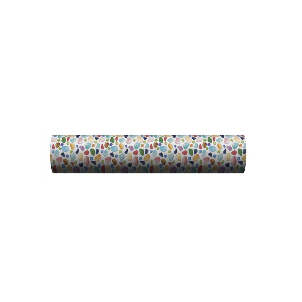 ●【送料無料】貼ってはがせる!床用 リノベシート ロール物(一反) ブルー(カラフルガラス) 90cm幅×20m巻 REN-06R「他の商品と同梱不可」