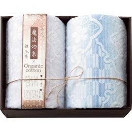☆極選魔法の糸×オーガニック プレミアム綿毛布2P MOW-31119 C7139567
