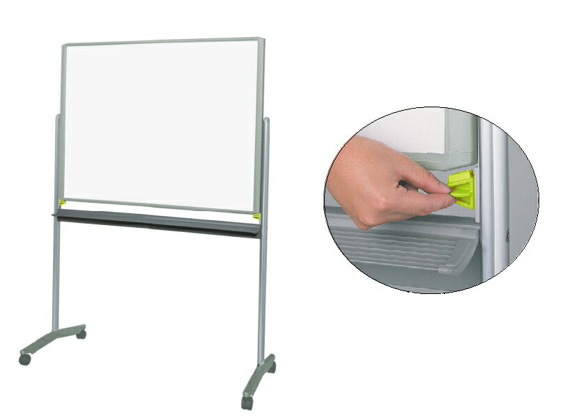 【送料無料】ホワイトボード(脚付)グレスボード(ホワイトボード/映写ボード)GR-132/板面サイズ:1241×920mm
