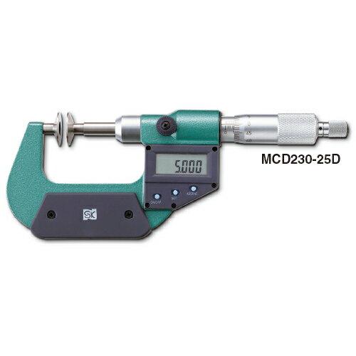 新潟精機 デジタル直進式歯厚マイクロメータ MCD230-50D【送料無料】