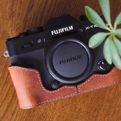 CIESTA/シエスタ FUJIFILM X-T20/X-T10用 おしゃれ イタリアンレザー カメラケース GIANO Brown (ブラウン) VEGETABLE COW Leather CAMERA BODY JACKET for FUJIFILM X-T20/X-T10 ボディー ジャケット 高品質 高級感 速写ケース フジフイルム 本革 Leather Camera Case