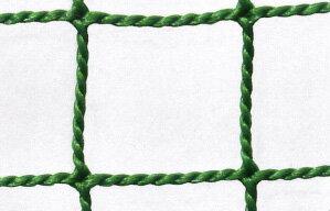防球ネット 防球網 無結節440t(440d)60本|目合:37.5mm|グリーン|大きさ:3m×17m