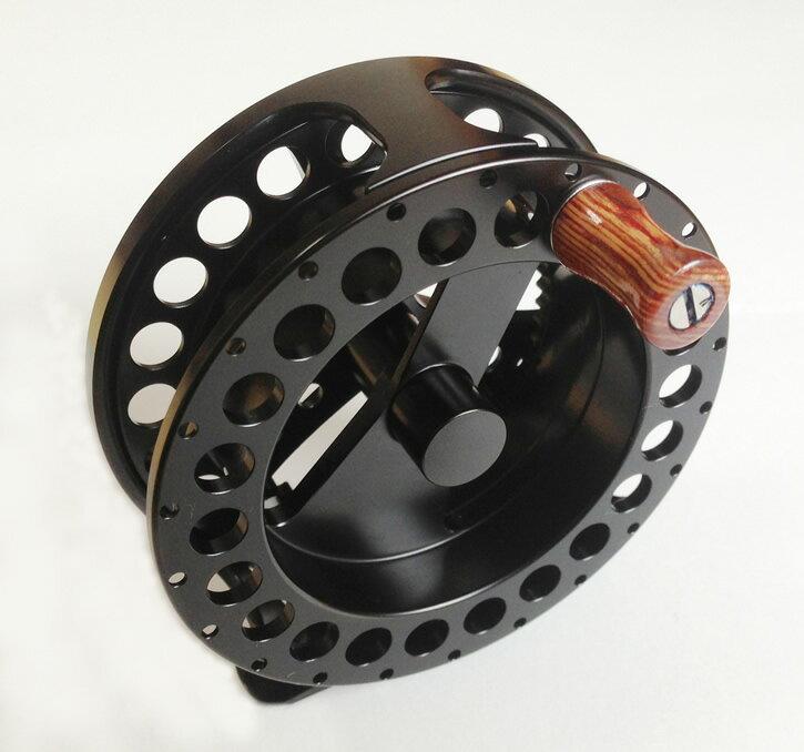 クリッカー SA フライ リール #2/3 マシンカットのアルミ合金ボディー製 ドラグ付 ブラック 【送料無料】